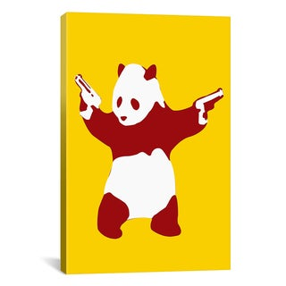 Banksy 'Panda with Guns' Canvas Art