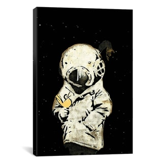 Banksy 'Space Girl and Bird II' Canvas Art