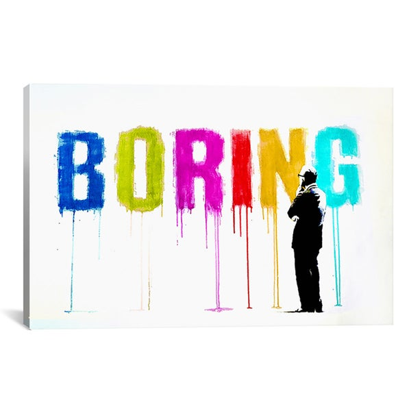 Banksy 'Boring III' Canvas Art