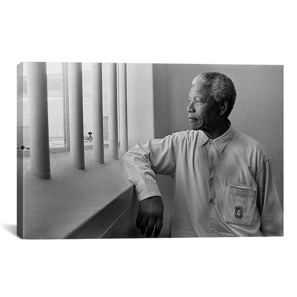 'Nelson Mandela Portrait' Canvas Art
