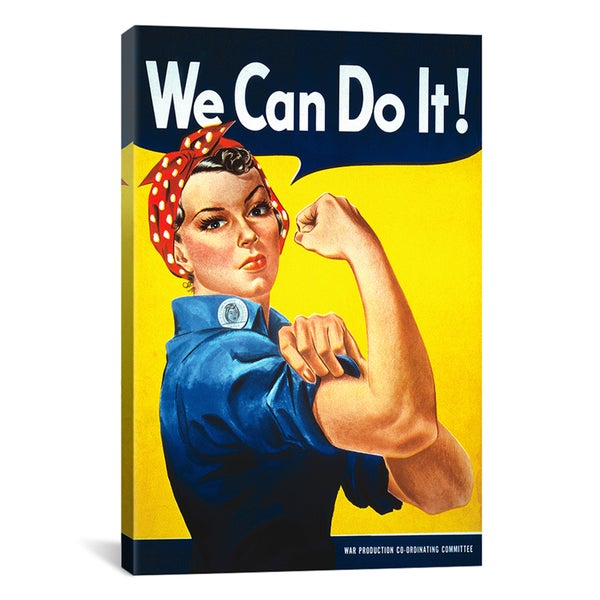 J. Howard Miller 'We Can Do It! (Rosie The Riveter) Poster' Canvas Art