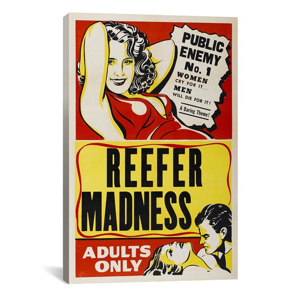 iCanvas 'Reefer Madness Vintage Movie Poster' Canvas Art Print 11461873