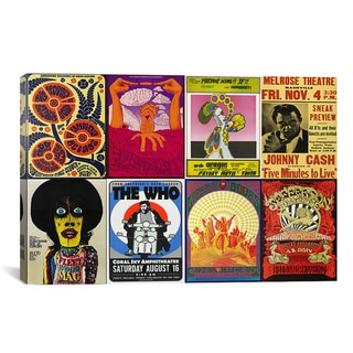 'Johnny Cash, The Who, Fleetwood Mac, The Doors, Jefferson Airplane Concert Poster' Canvas Art Print