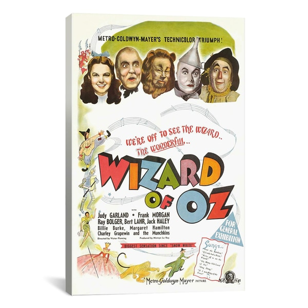 'The Wizard of Oz (Movie) Advertising Vintage Poster' Canvas Art Print