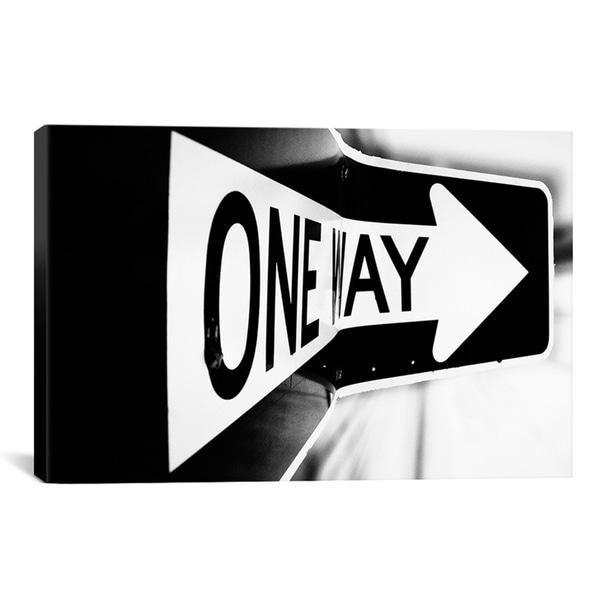 Bob Larson 'Which Way (One Way)' Canvas Art Print