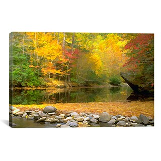 JD McFarlan 'Little River' Canvas Art Print