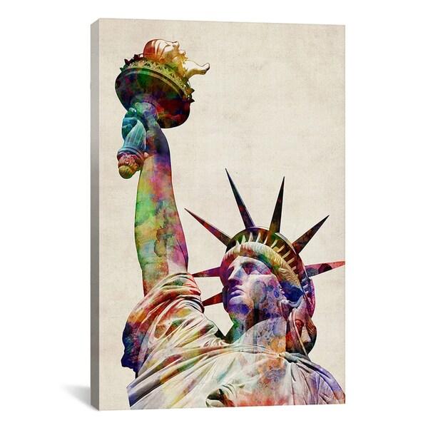 Michael Thompsett 'Statue of Liberty' Canvas Art Print