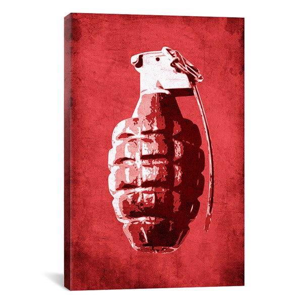 Michael Thompsett 'Hand Grenade (Red)' Canvas Art Print