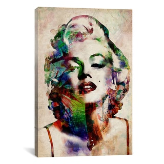 Michael Thompsett 'Watercolor Marilyn Monroe' Canvas Art Print