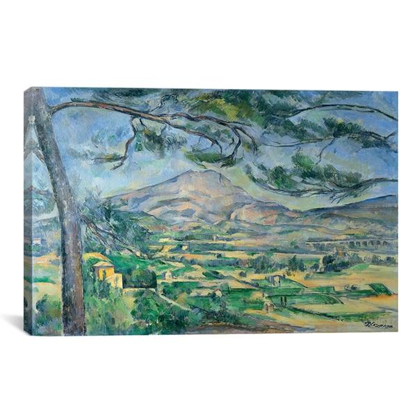 icanvas paul cezanne mont sainte victoire with large pine tree 1887 canvas print