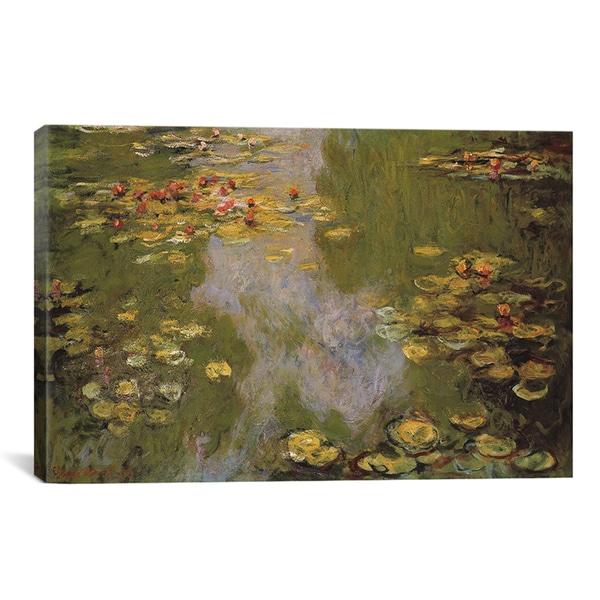 Claude Monet 'Water Lilies 1919' Canvas Art Print