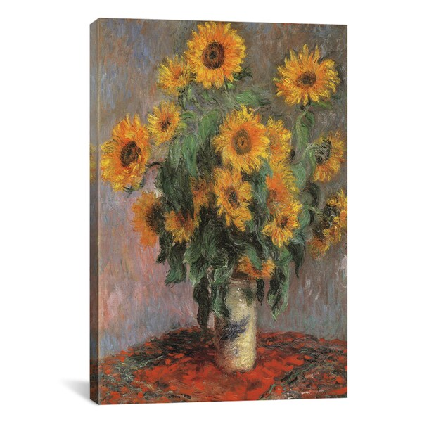 Vincent Van Gogh 'Sunflowers 1889' Canvas Wall Art