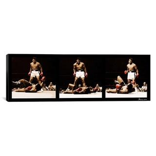'Muhammad Ali vs. Sonny Liston, 1965' Canvas Art