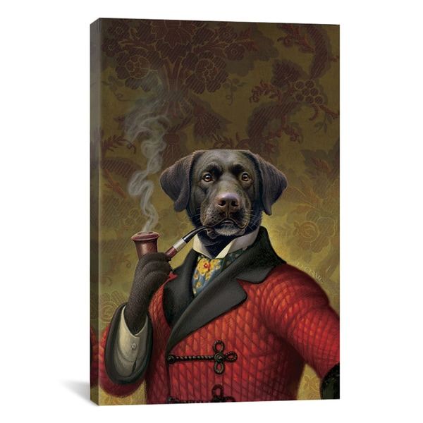 Dan Craig 'The Red Beret (Dog)' Canvas Art