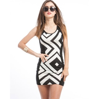 Stanzino Juniors Geometric Print Bodycon Dress