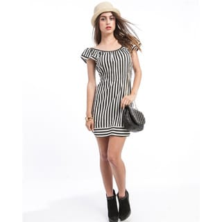 Stanzino Women's Striped Rosette Dress