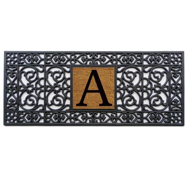 """Rubber Monogrammed Doormat (17""""x41"""")"""
