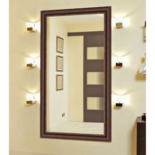 Polynesian Coco Brown Gold Trim Mirror