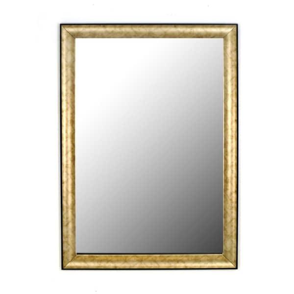 Trellis Pewter Black Trim Mirror