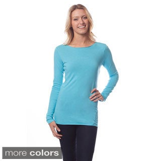 AtoZ Women's Long Sleeve Round Neck Top