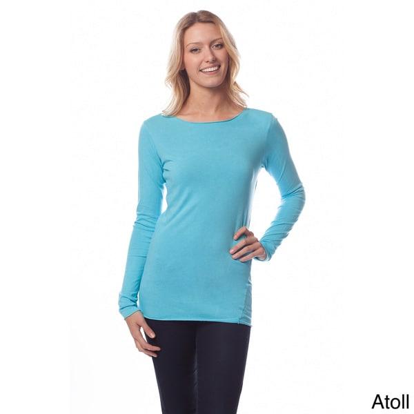 AtoZ Women's Long Sleeve Round Neck Top