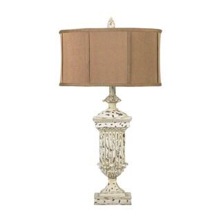 Dimond Lighting 1-light Distressed White Table Lamp