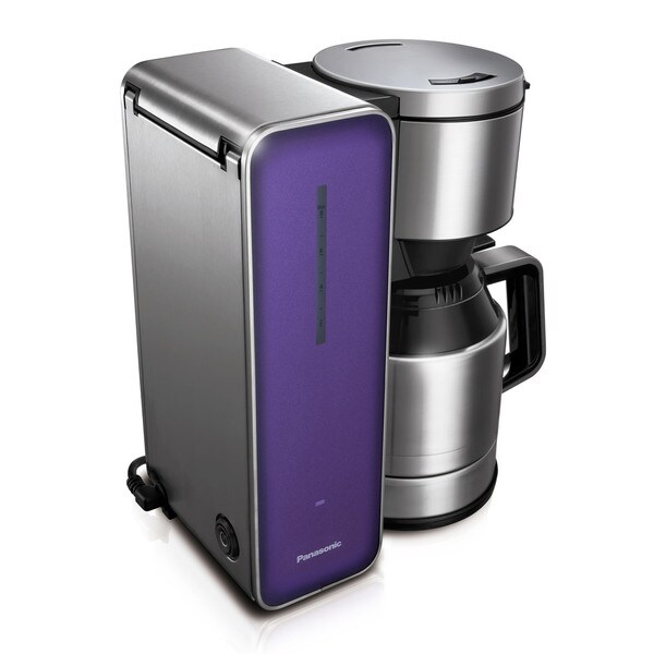 Panasonic Violet 8-cup Stainless Steel/ Glass Finish Coffee Maker