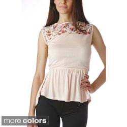 Stanzino Women's Floral Lace Detailed Top
