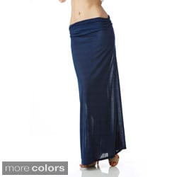 Stanzino Women's Solid Long Maxi Skirt