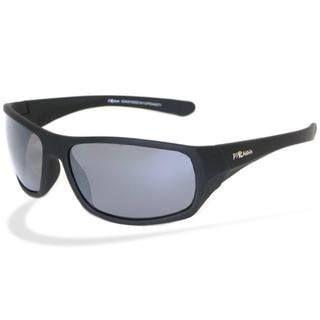 Piranha Men's 'Razor' Black Polycarbonate Sport Sunglasses