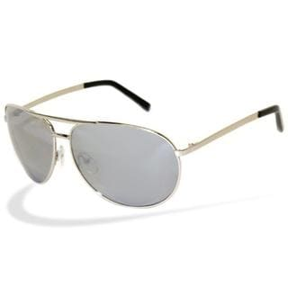 Men's 'Cop' Silver Metal Aviator Sunglasses
