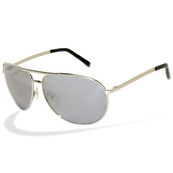 Men's 'Cop' Silver Metal Aviator Sunglasses