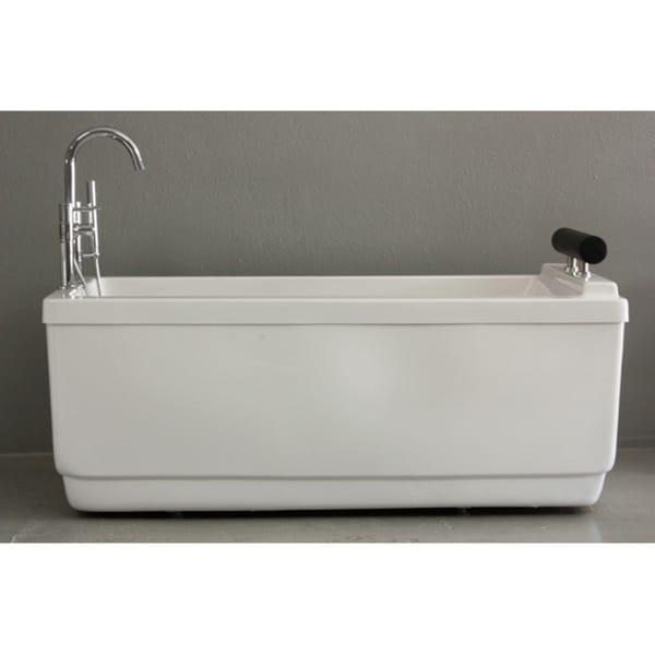 SanSiro Modern 59 Inch Apartment Air Jetted Bathtub Faucet Package 1553549