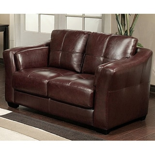 Abbyson Living Torrance Premium Top-Grain Leather Loveseat