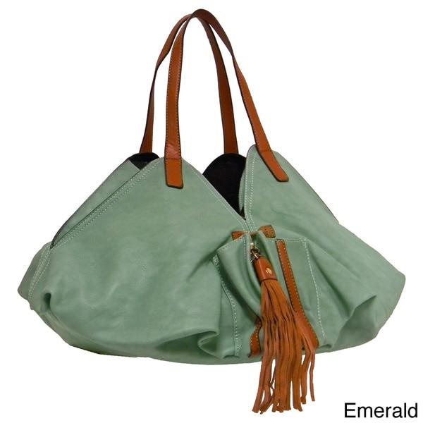 Donna Bella Designs 'Droste' Fabric Bucket Handbag