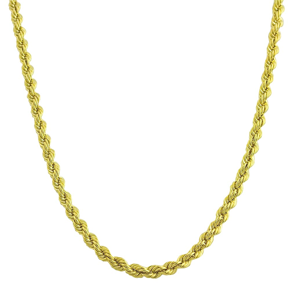 Fremada 10k Yellow Gold 2.5-mm Hollow Rope Chain
