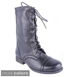 Blossom Women's 'MITCH-3' Women's Lace Up Combat Boot