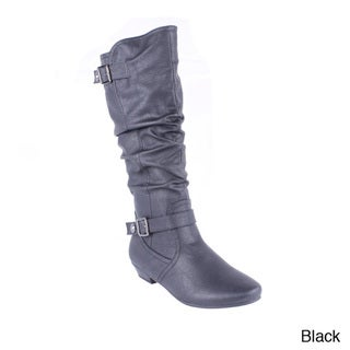 Blossom Women's 'Firenze-12' Slouchy Buckled Knee-high Boots