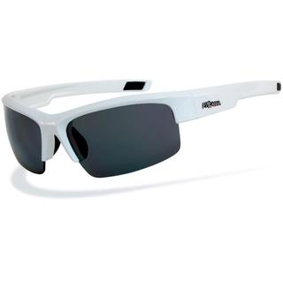 Pyranha Men's 'DNA II' White Sport Wrap Sunglasses