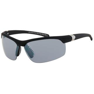 Pyranha Men's 'Focus' Matte Black Sport Wrap Sunglasses