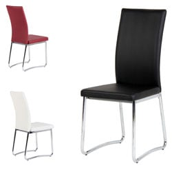 Romeo Chrome Leg Dining Chairs (Set of 2)