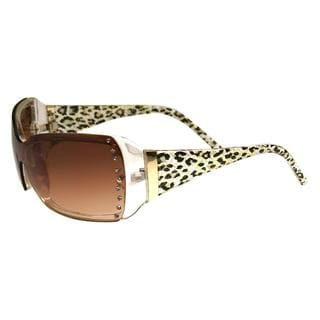 Envy Women's 'Uptown' Brown/ Leopard Fashion Sunglasses