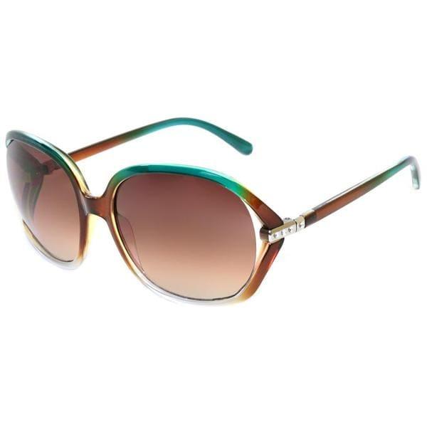 Envy Women's 'Coco' Turquoise/ Brown Fashion Sunglasses