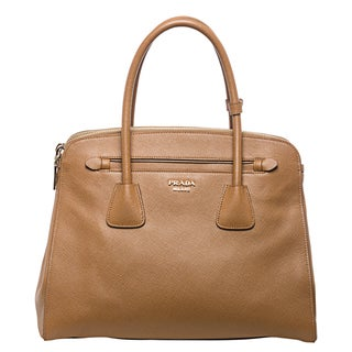 Prada Large Caramel Saffiano Leather Tote