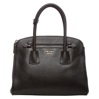 Prada Black Saffiano Leather Tote