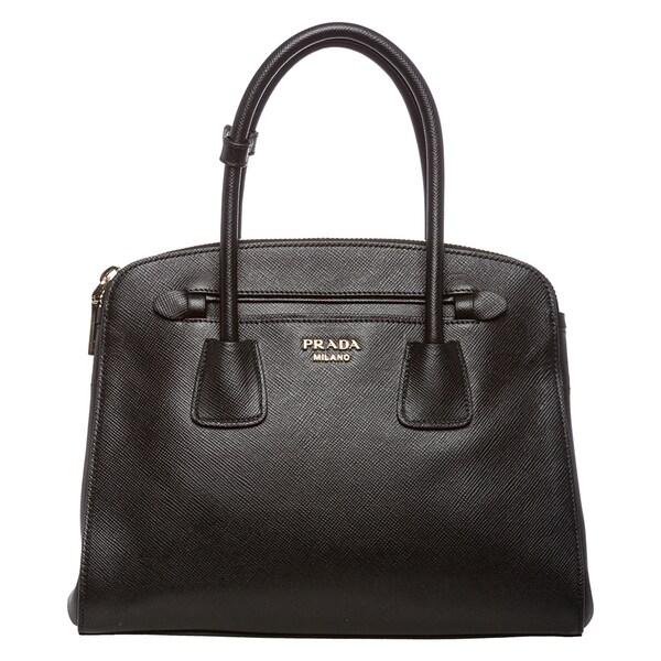 Prada Black Saffiano Leather Tote