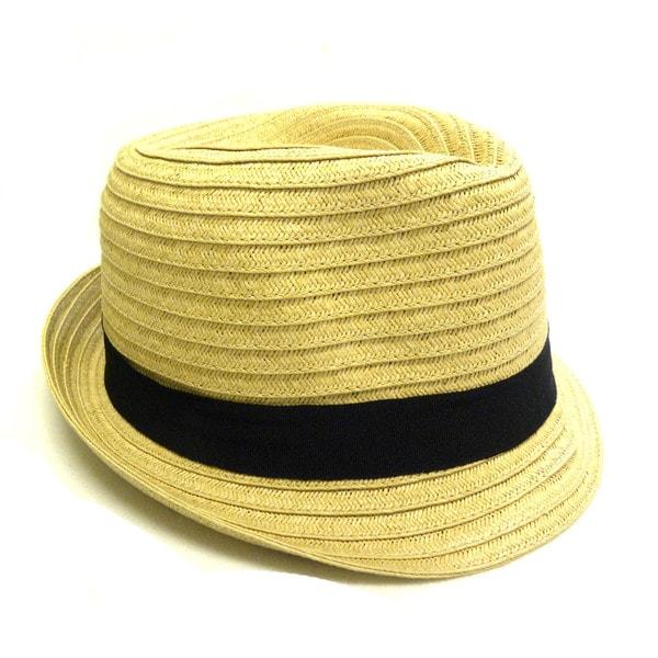 KC Signatures Women's Classic Beige Straw Fedora Hat