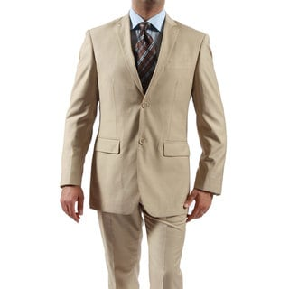 Ferrecci Men's 2-piece 2-button Tan Slim Suit