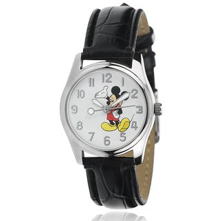 Disney Mickey Mouse Leather Women's Analog Watch