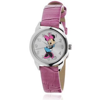 Disney Minnie Mouse Faux Leather Girl's Analog Watch